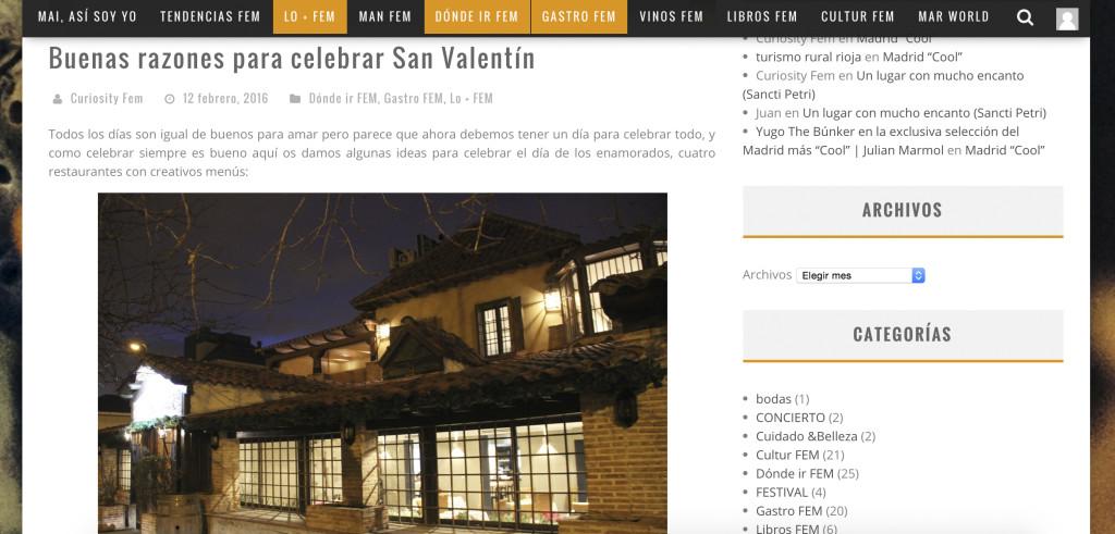 CURISITY REPOR SAN VALENTIN