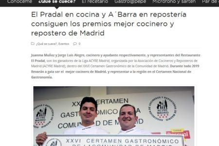 El Pradal en De las Cosas Del Comer (Mayo 2019)