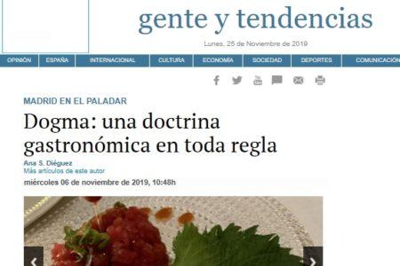 Dogma en El Imparcial (06.11.2019)