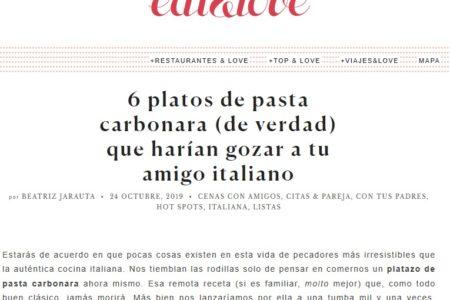 NOI en EatandLove (24.10.2019)