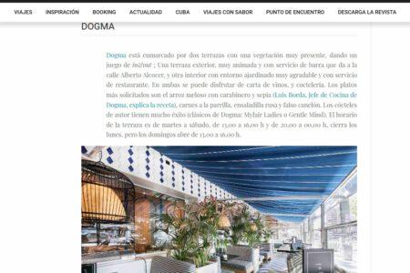 Dogma en Revista Viajeros (Julio 2020)